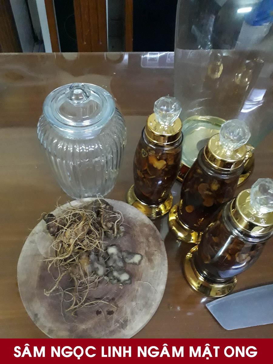 Sâm ngọc linh ngâm mật ong bình 3 lít với 1kg sâm