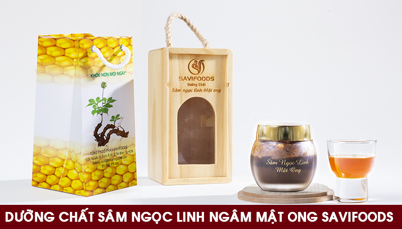 Dương chất sâm Ngọc Linh ngâm mật ong sấy thăng hoa SAVIFOODS